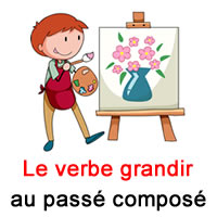 Le Verbe Grandir Au Passe Compose Exercice De Francais Ce2