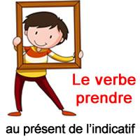 Le Verbe Prendre Au Present De L Indicatif Exercice De Francais Ce2
