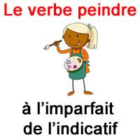 Le Verbe Peindre A L Imparfait De L Indicatif Exercice De Francais Ce2