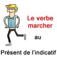 Le Verbe Marcher Au Present De L Indicatif Exercice De Francais Ce2