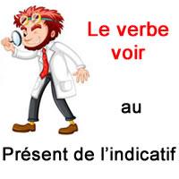 Le Verbe Voir Au Present De L Indicatif Exercice De Francais Ce2