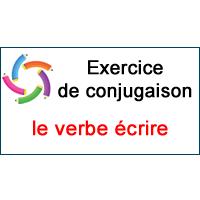 Le Verbe Ecrire Exercice De Conjugaison En Ligne