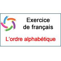 1 Exercice Pour Apprendre L Ordre Alphabetique