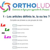 1 Les Articles Definis Le La Ou Les