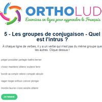 5 Les Groupes De Conjugaison Quel Est L Intrus