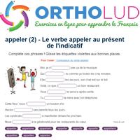 2 Le Verbe Appeler Au Present De L Indicatif Exercice De Francais Ce2