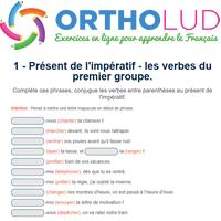 1 Present De L Imperatif Les Verbes Du Premier Groupe