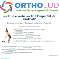 Le Verbe Sortir A L Imparfait De L Indicatif Exercice De Francais Cm1