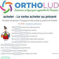 Le Verbe Acheter Au Present De L Indicatif Exercice De Francais Cm1