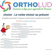 Le Verbe Choisir Au Present De L Indicatif Exercice De Francais Cm1