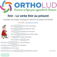 Le Verbe Finir Au Present De L Indicatif Exercice De Francais Cm1