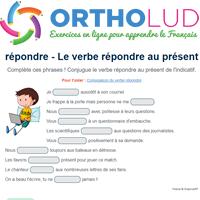 Le Verbe Repondre Au Present De L Indicatif Exercice De Francais Cm1