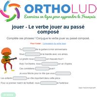 Le Verbe Jouer Au Passe Compose Exercice De Francais Cm1