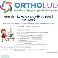 Le Verbe Grandir Au Passe Compose Exercice De Francais Cm1