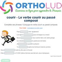 Le Verbe Courir Au Passe Compose Exercice De Francais Cm1