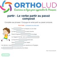 Le Verbe Partir Au Passe Compose Exercice De Francais Cm1