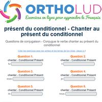 Conjugue Le Verbe Chanter Au Present Du Conditionnel
