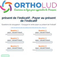 Conjugue Le Verbe Payer Au Present De L Indicatif