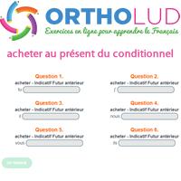 Conjugue Le Verbe Acheter Au Present Du Conditionnel