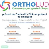 Exercice De Conjugaison Finir Au Present De L Indicatif