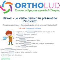 Le Verbe Devoir Au Present De L Indicatif Exercice De Francais Cm1